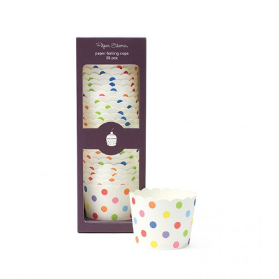 Baking Cups (rainbow dots)-Palm & Pine Party Co.