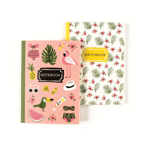 Beach Bum Duo Notebook-Palm & Pine Party Co.