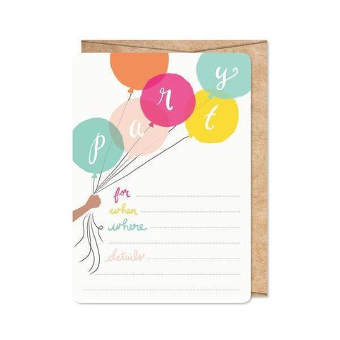 Birthday Brights Invitations-Palm & Pine Party Co.