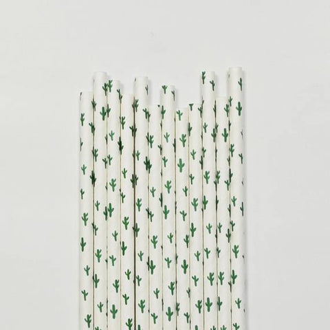 Cactus Paper Straws-Palm & Pine Party Co.