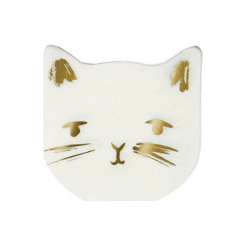 Cat Die-Cut Napkins-Palm & Pine Party Co.