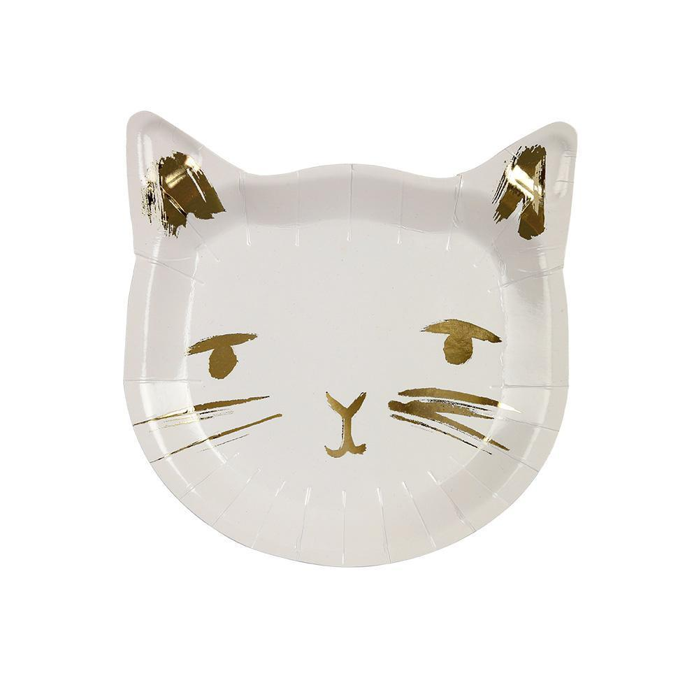 Cat Die-Cut Plates-Palm & Pine Party Co.