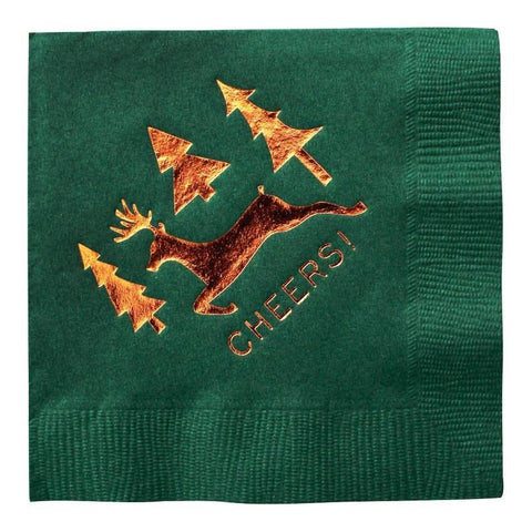 Cheers Christmas Napkins-Palm & Pine Party Co.