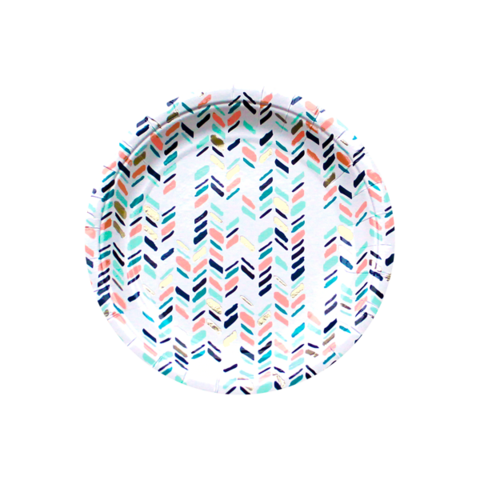 Chevron Paper Plates-Palm & Pine Party Co.