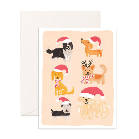Christmas Dogs Card-Palm & Pine