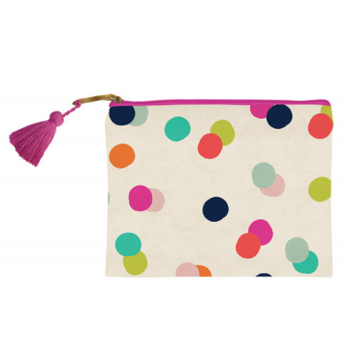 Confetti Dots Makeup Bag-Palm & Pine