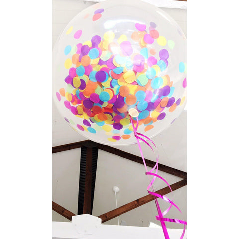 Custom Confetti Balloon (90cm)-Palm & Pine Party Co.