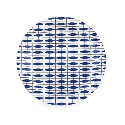 Dessert Plate (nautical navy)-Palm & Pine Party Co.