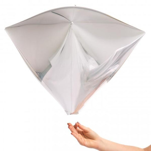 Diamondz Balloon (silver)-Palm & Pine Party Co.