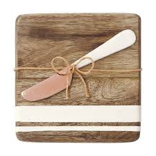 Wood & Enamel Board & Spreader (Double Stripe)-Palm & Pine Party Co.