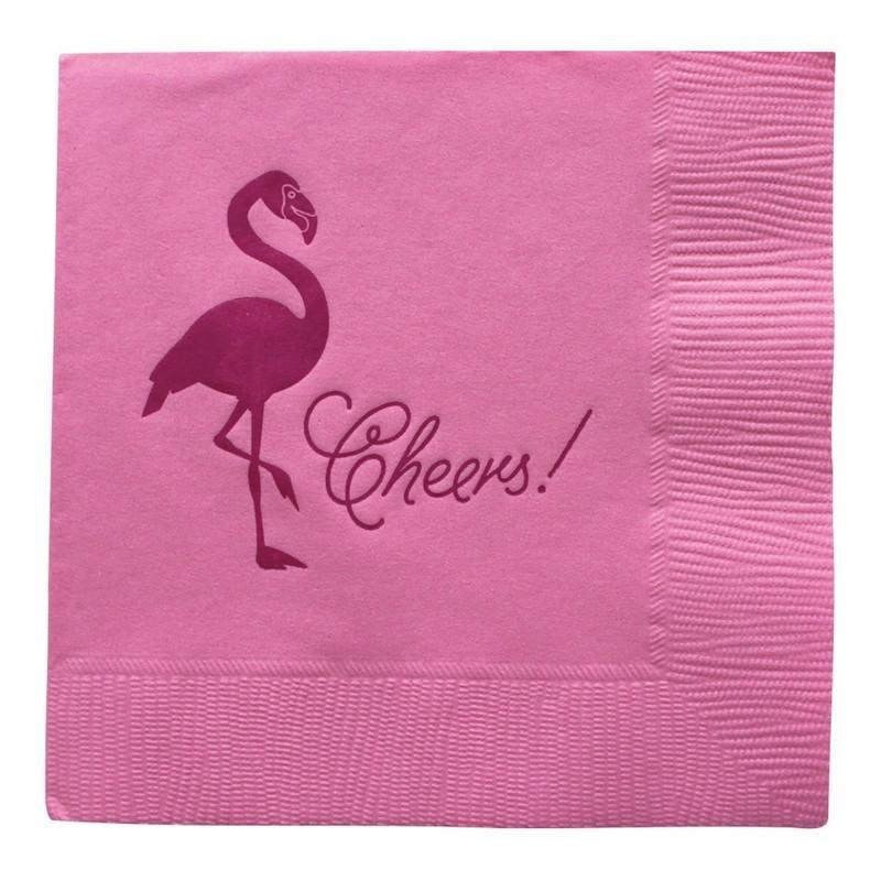 Flamingo Cocktail Napkins-Palm & Pine Party Co.