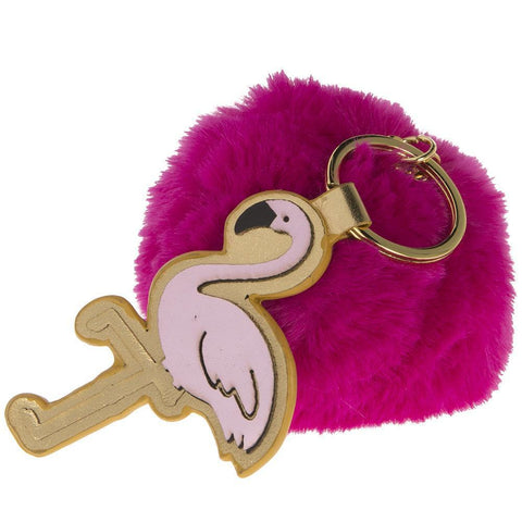 Flamingo Keychain-Palm & Pine