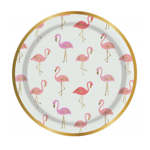 Flamingo Party Plates-Palm & Pine Party Co.