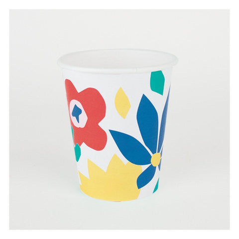 Floral Party Cups-Palm & Pine