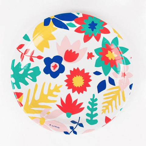 Floral Party Plates-Palm & Pine Party Co.