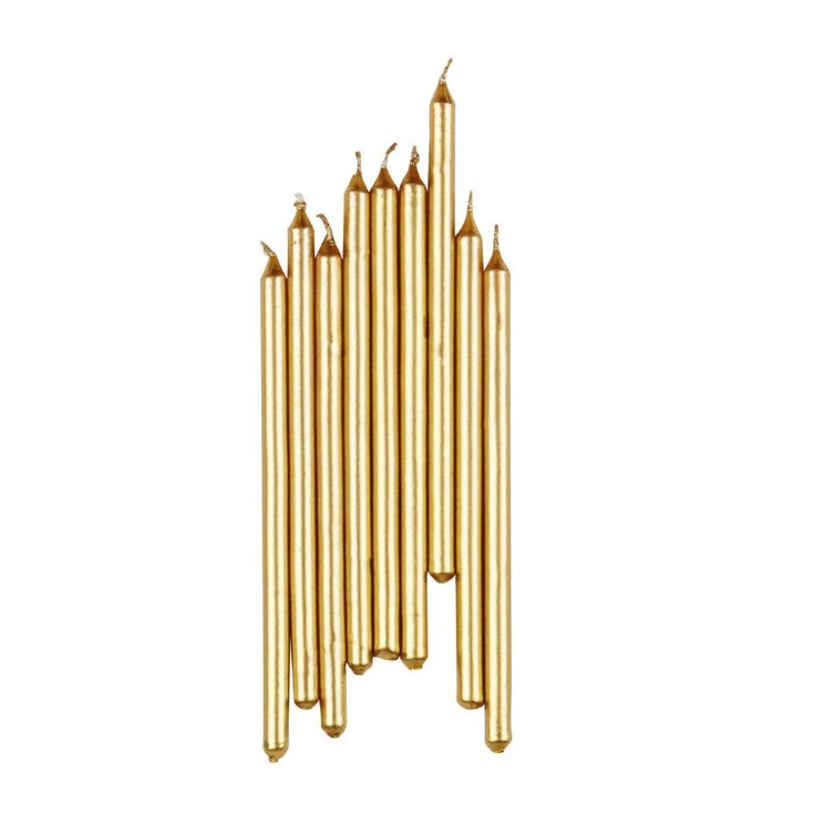 Gold Birthday Candles Palm Pine Party Co