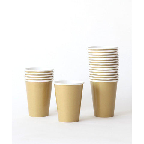 Gold Party Cups-Palm & Pine Party Co.