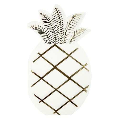 Gold Pineapple Napkins-Palm & Pine Party Co.