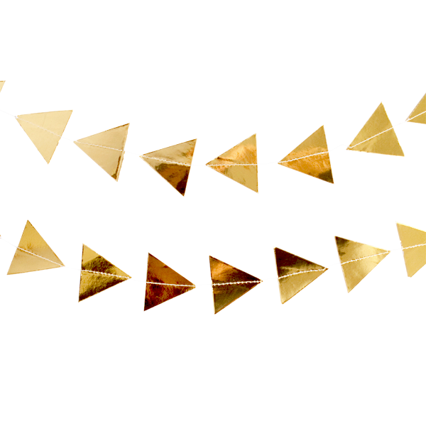 Gold Triangle Garland-Palm & Pine Party Co.