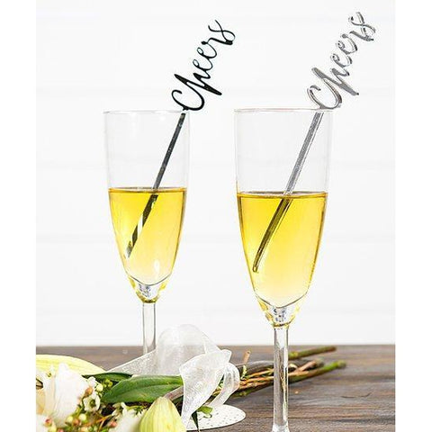 Grey Glam Drink Stirrers-Palm & Pine Party Co.