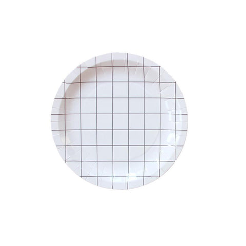 Grid Plate (small)-Palm & Pine Party Co.