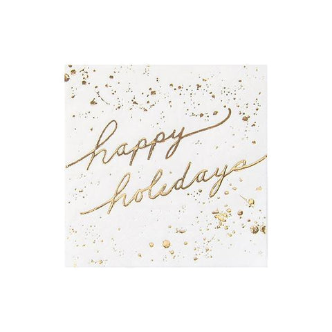 Happy Holidays Napkins-Palm & Pine Party Co.