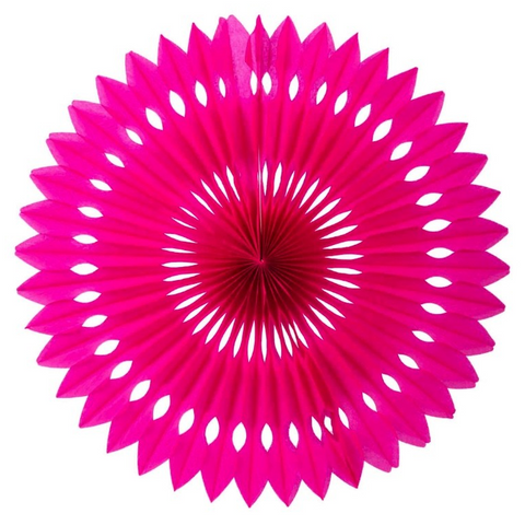 Hot Pink Honeycomb Fan (40cm)-Palm & Pine Party Co.