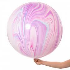 Jumbo Marble Fashion Balloon, Inflated-Palm & Pine