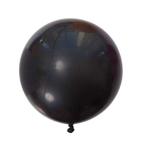Jumbo Round Balloons 90cm (black)-Palm & Pine Party Co.