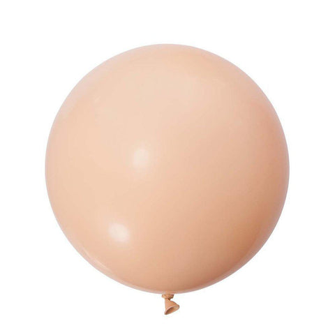 Jumbo Round Balloons 90cm (blush)-Palm & Pine Party Co.
