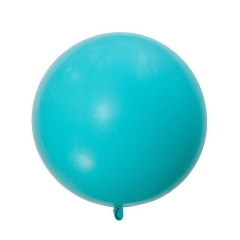 Jumbo Round Caribbean Blue Balloon, Inflated-Palm & Pine