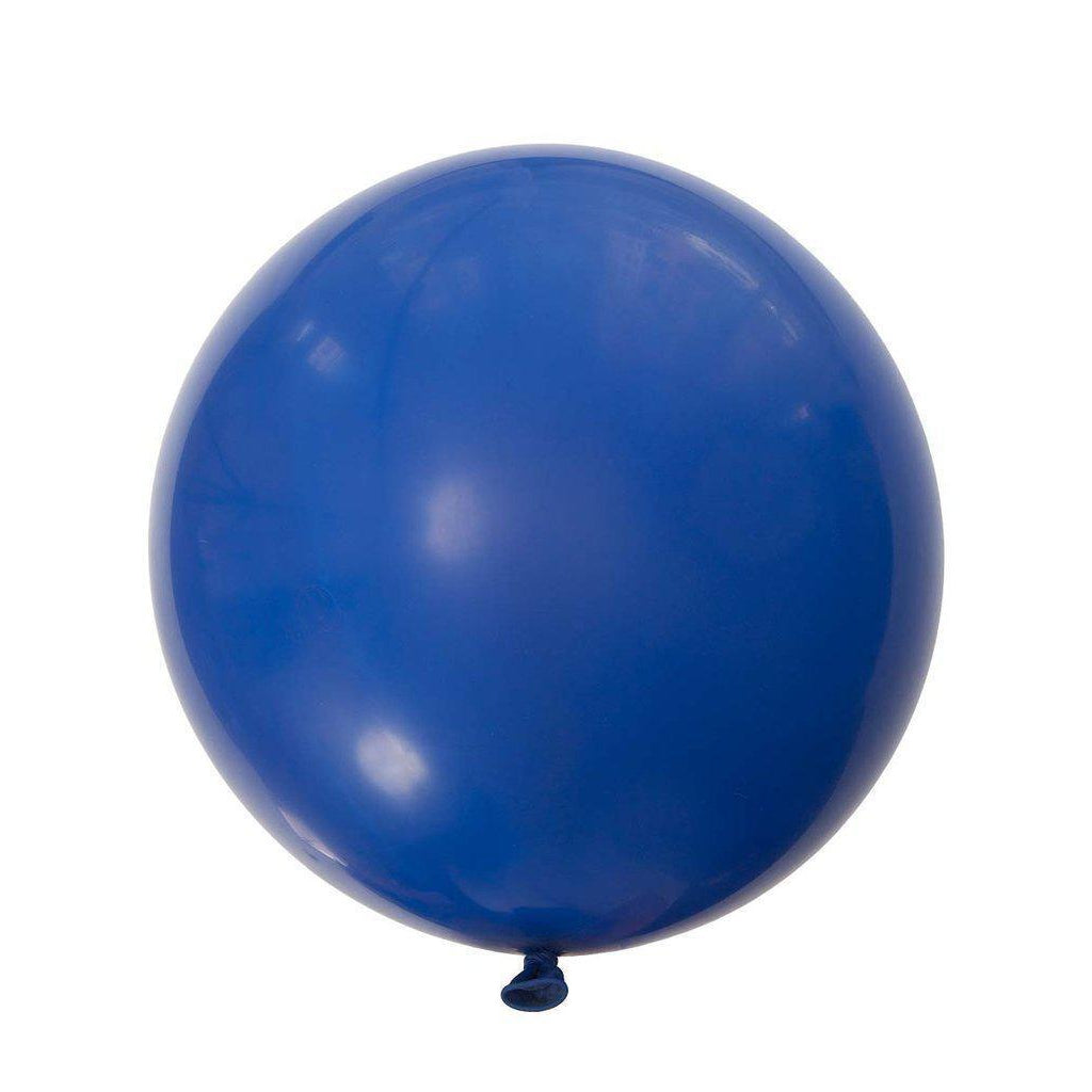 Jumbo Round Balloons 90cm (dark blue)-Palm & Pine Party Co.