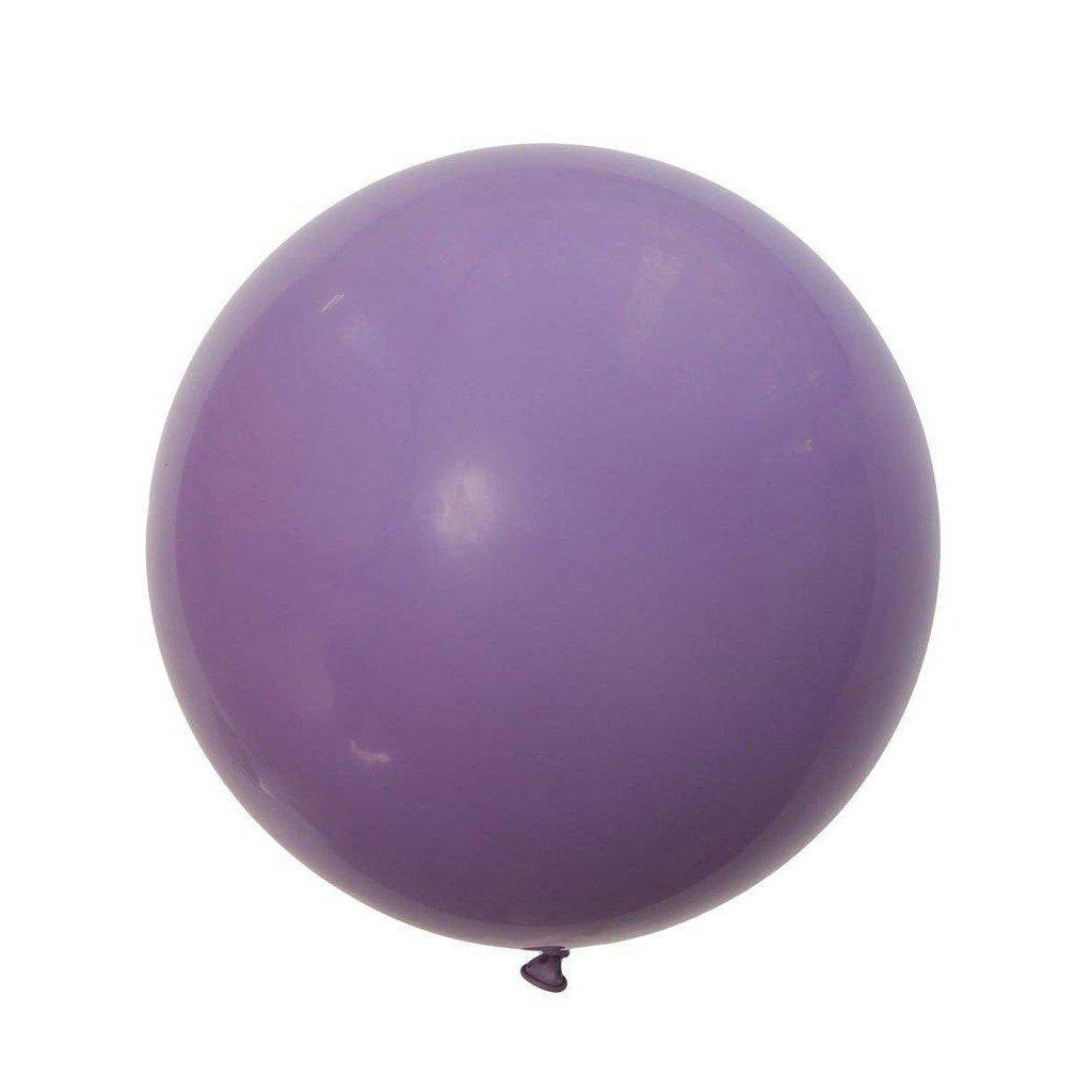 Jumbo Round Lilac Balloon, Inflated-Palm & Pine