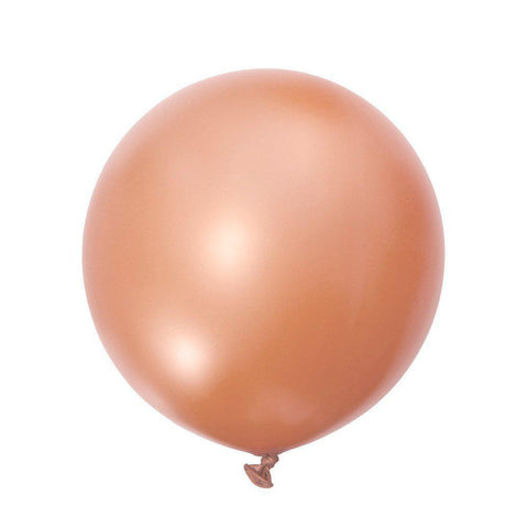 Jumbo Round Balloons 90cm (rose gold)-Palm & Pine Party Co.