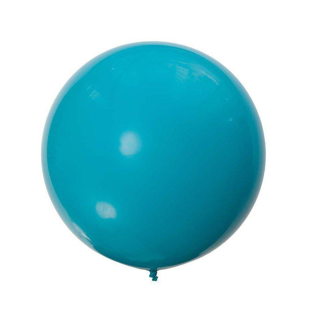Jumbo Round Tropical Teal Balloon, Inflated-Palm & Pine Party Co.