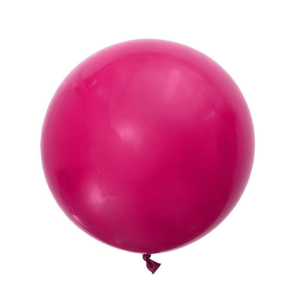 Jumbo Round Balloons 90cm (wildberry)-Palm & Pine Party Co.