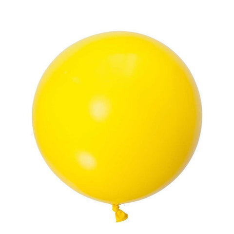Jumbo Round Balloons 90cm (yellow)-Palm & Pine Party Co.