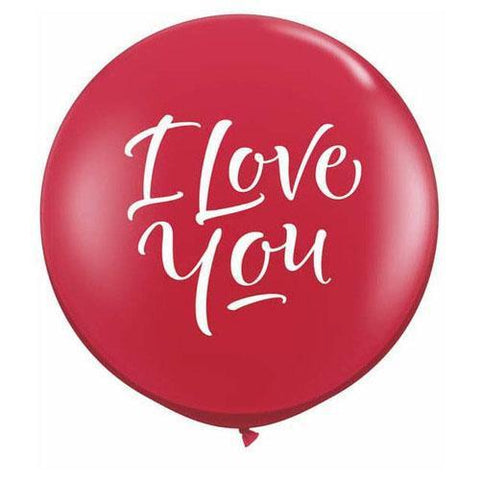 "Jumbo Round ""I Love You"" Balloon-Palm & Pine Party Co."