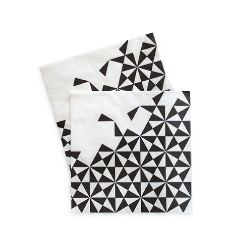 Large Party Napkins (black)-Palm & Pine Party Co.