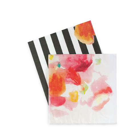 Large Party Napkins (floral)-Palm & Pine