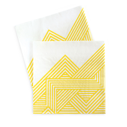 Large Party Napkins (yellow)-Palm & Pine Party Co.