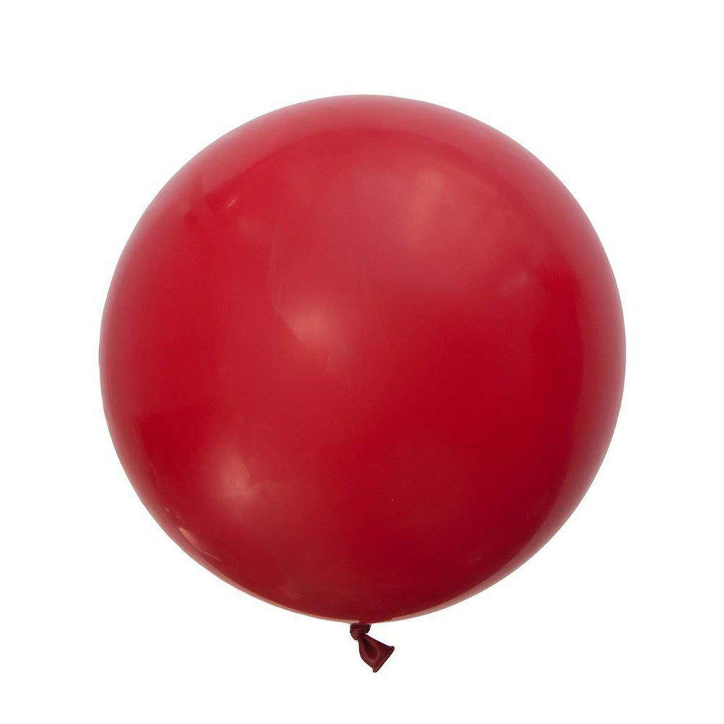 Large Round Balloons 60cm (red)-Palm & Pine Party Co.