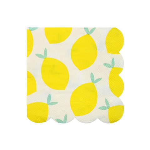 Lemon Napkins (small)-Palm & Pine Party Co.