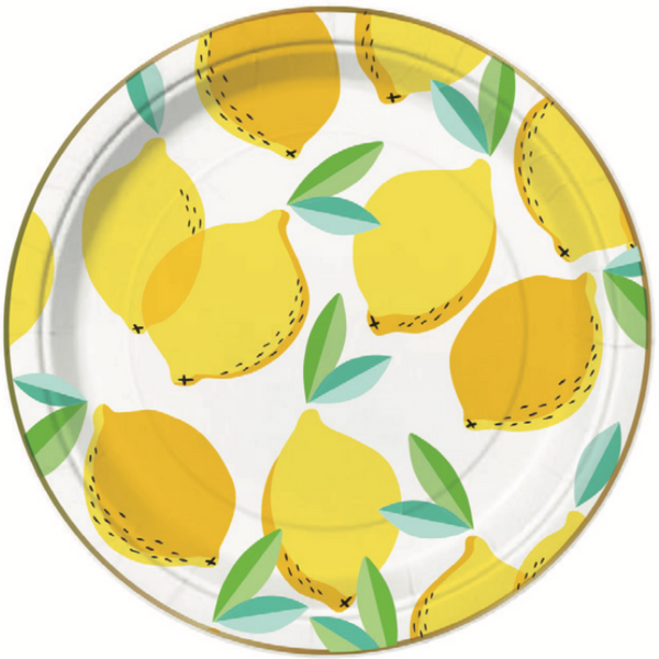 Lemon Party Plates-Palm & Pine Party Co.