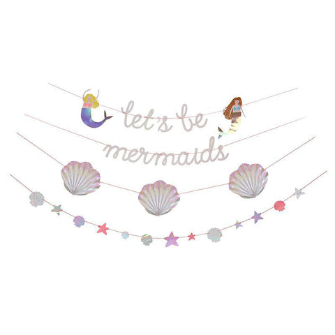 Let's Be Mermaids Garland-Palm & Pine Party Co.