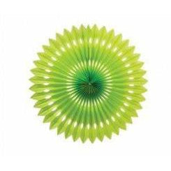 Lime Green Honeycomb Fan (24cm)-Palm & Pine Party Co.