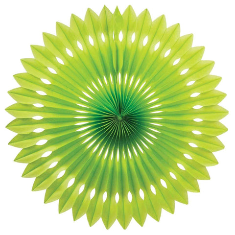 Lime Green Honeycomb Fan (40cm)-Palm & Pine Party Co.