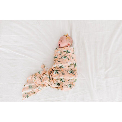 Muslin Swaddle - Blushing Protea-Palm & Pine Party Co.