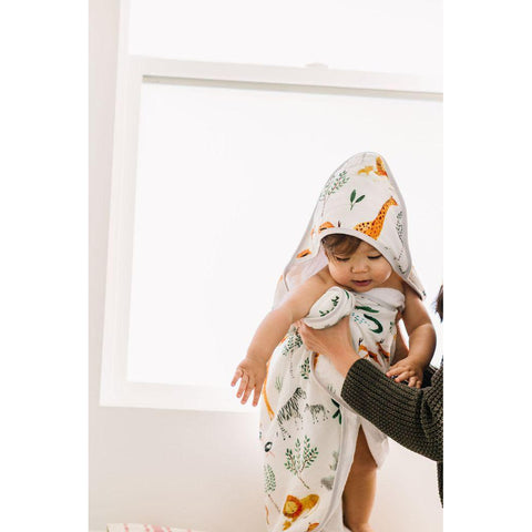 Hooded Towel Set - Safari Jungle