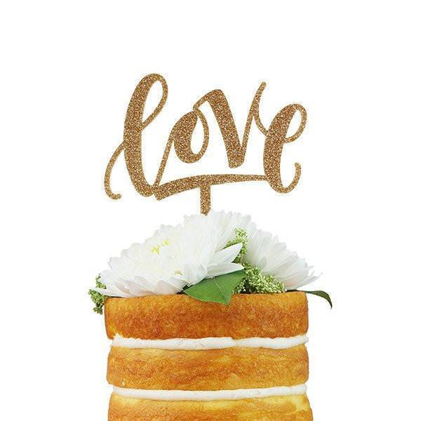 Love Cake Topper-Palm & Pine Party Co.